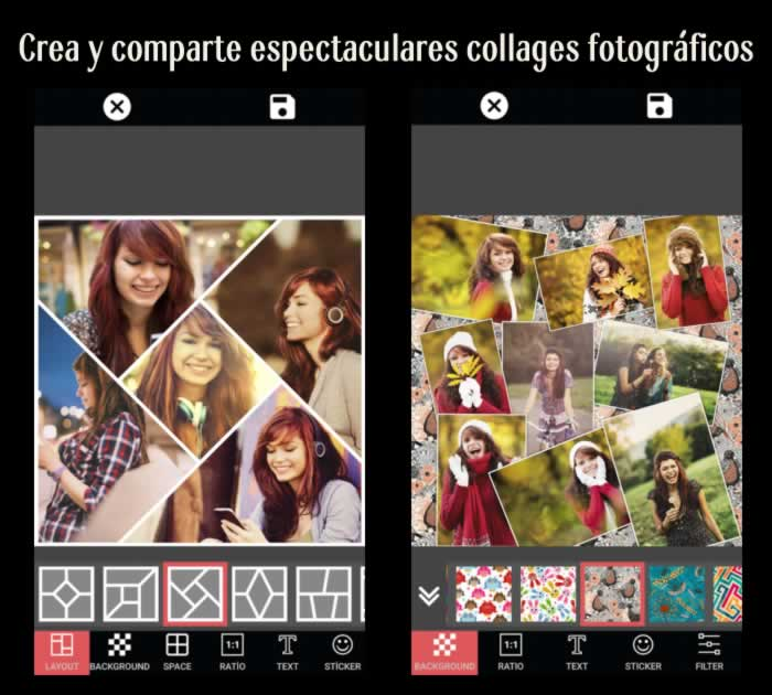 Crea y comparte espectaculares collages fotográficos