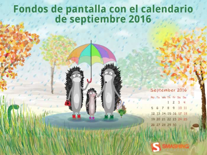 Fondos de pantalla con o sin el calendario del mes de septiembre de 2016