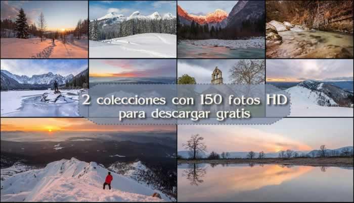 2 Colecciones con 150 fotos HD para descargar gratis