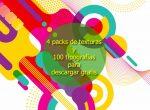 4 packs de texturas y 100 tipografías novedosas para descargar gratis