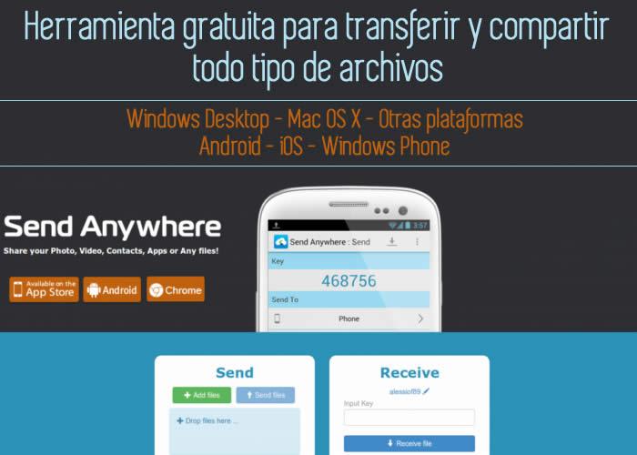 Herramienta gratuita para transferir y compartir todo tipo de archivos