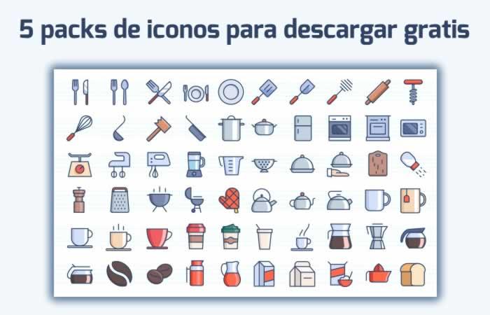 5 packs de iconos para descargar gratuitamente