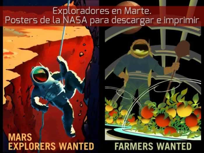 Exploradores en Marte. Posters de la NASA para descargar e imprimir