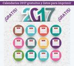 Calendarios 2017 listos para descargar e imprimir gratis