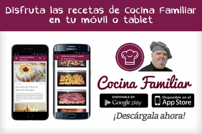 Disfruta las recetas de Cocina Familiar en la web, en tu móvil y tablet