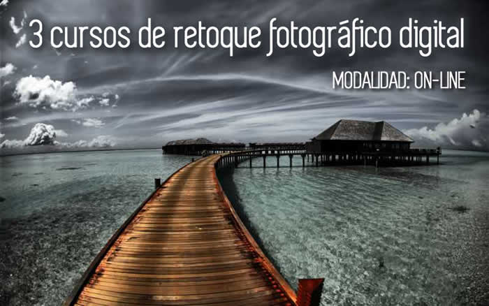 3 cursos on-line de retoque fotográfico digital