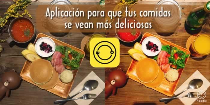 Foodie. Aplicación para que tus comidas se vean más deliciosas