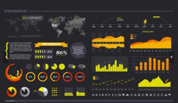 Pack de elementos para crear infografías