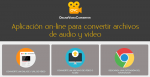 OnlineVideoConverter. Aplicación on-line para convertir archivos de audio y video