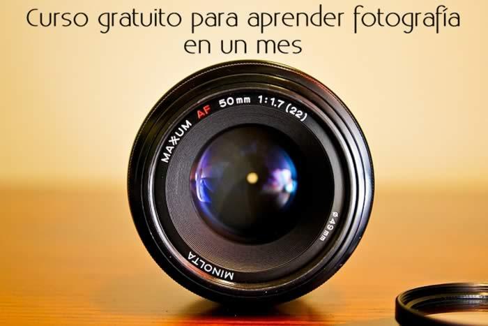 Curso gratuito para aprender fotografía en un mes