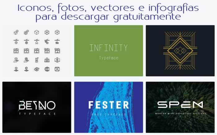 Iconos, fotos, vectores y otros elementos gráficos gratis