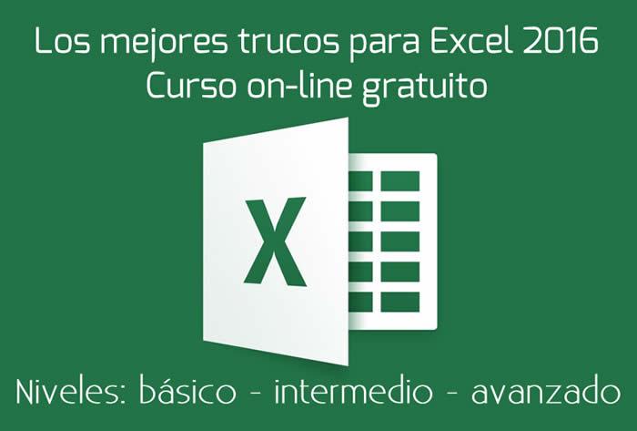 Los mejores trucos para Excel 2016. Curso on-line gratuito