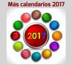 Más calendarios 2017 gratuitos para descargar e imprimir