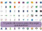 51 packs de iconos para descargar gratuitamente