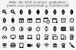 Más de 650 iconos gratuitos para uso personal y comercial