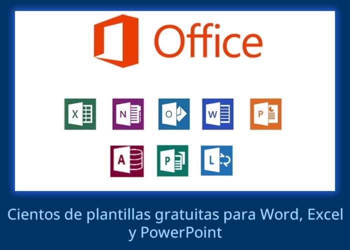 Cientos de 1500 plantillas gratuitas para Word, Excel y PowerPoint
