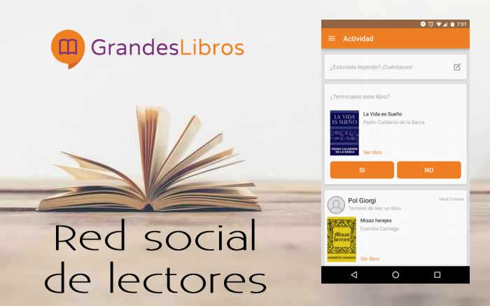 Grandes Libros. Red social para lectores