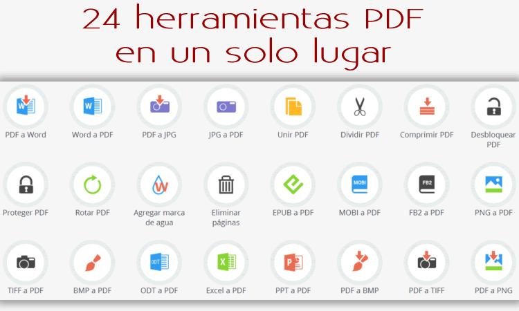 PdfCandy. 24 herramientas PDF en un solo lugar