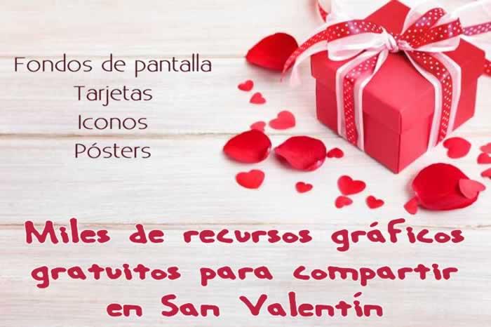 Miles de recursos gráficos gratuitos para compartir en San Valentín