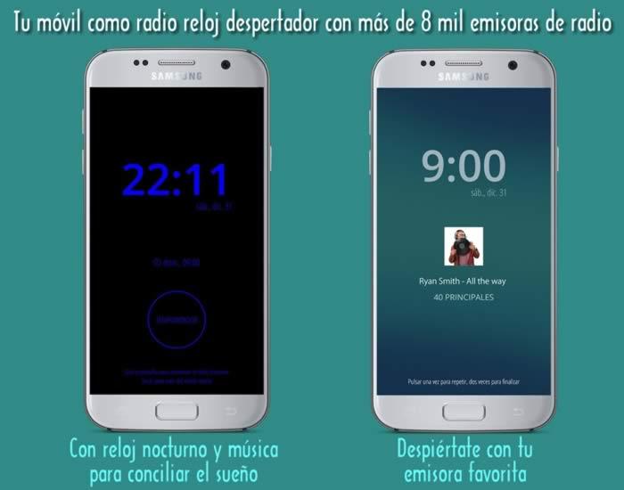 Tu móvil como radio reloj despertador con más de 8 mil emisoras de radio