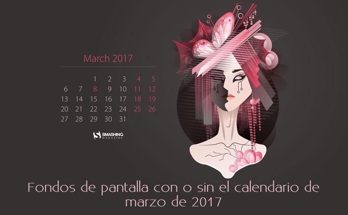 Fondos de pantalla con o sin el calendario de marzo de 2017