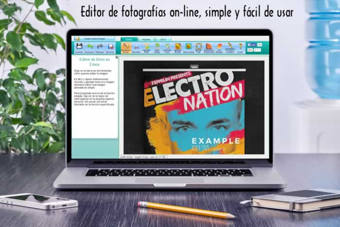 Editor de fotografías on-line, simple y fácil de usar
