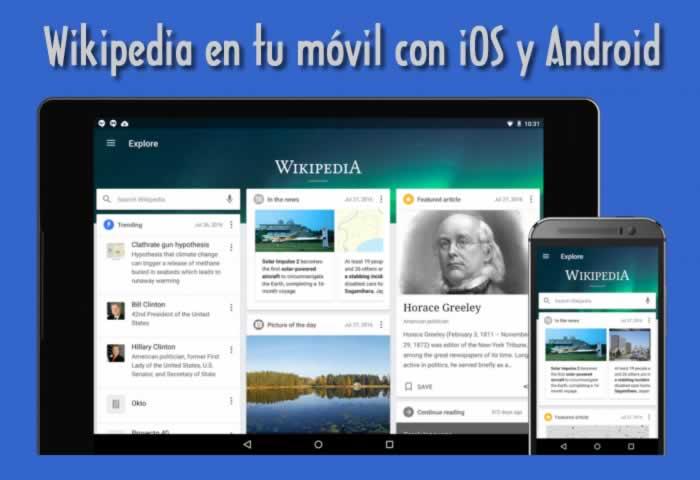 Wikipedia en tu móvil con iOS y Android