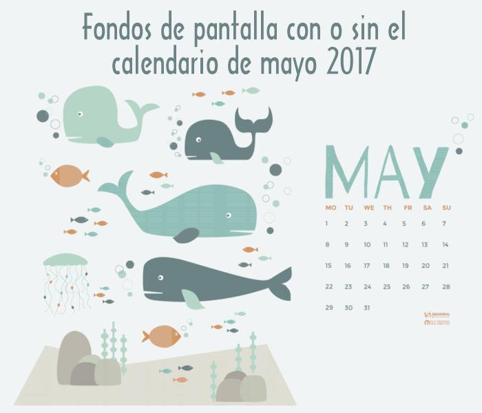 18 fondos multipantalla con o sin el calendario del mes de mayo de 2017