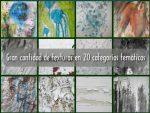 Gran cantidad de texturas gratuitas en 20 categorías temáticas