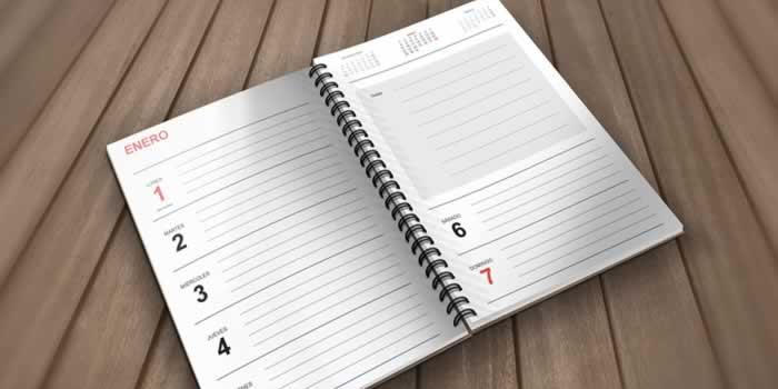 Agenda semanal 2018 para descargar e imprimir gratis