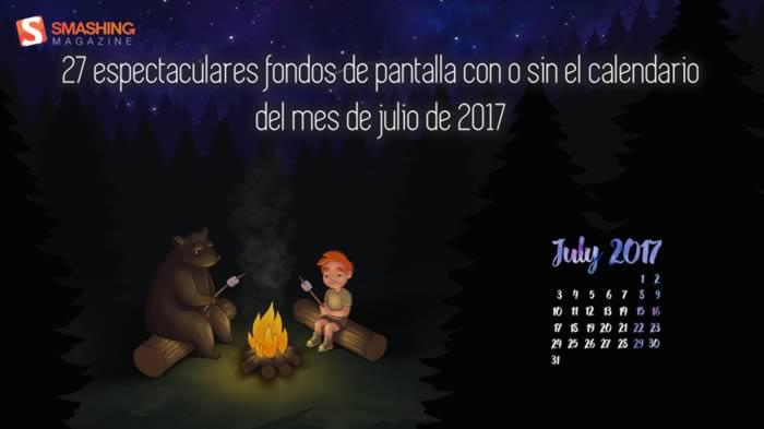 27 espectaculares fondos de pantalla con o sin el calendario del mes de julio de 2017