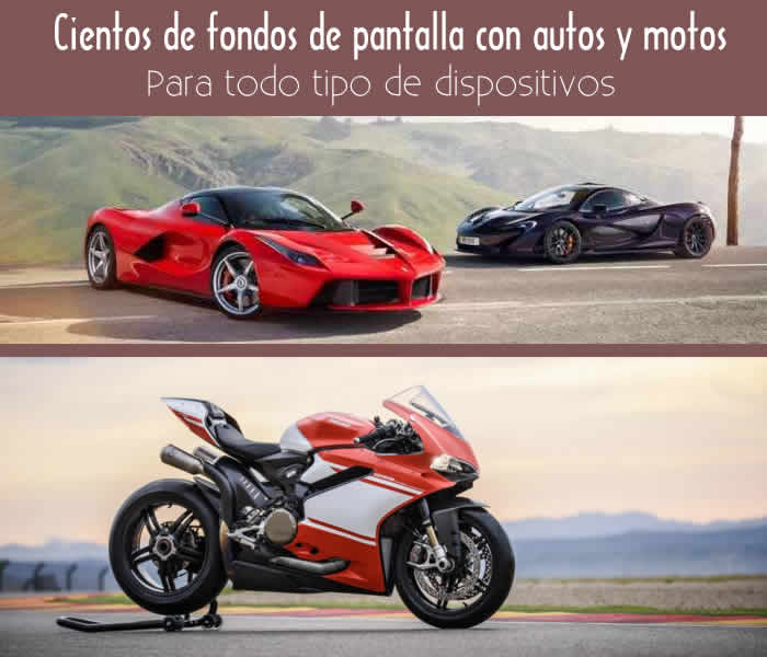 Más de 3500 fondos de pantalla con autos y motos