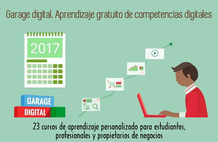 Garage digital. Aprendizaje gratuito de competencias digitales