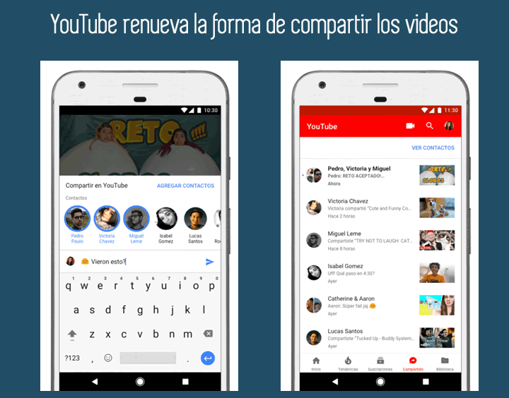 YouTube renueva la forma de compartir sus videos