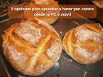 5 opciones para aprender a hacer pan casero desde tu PC o móvil