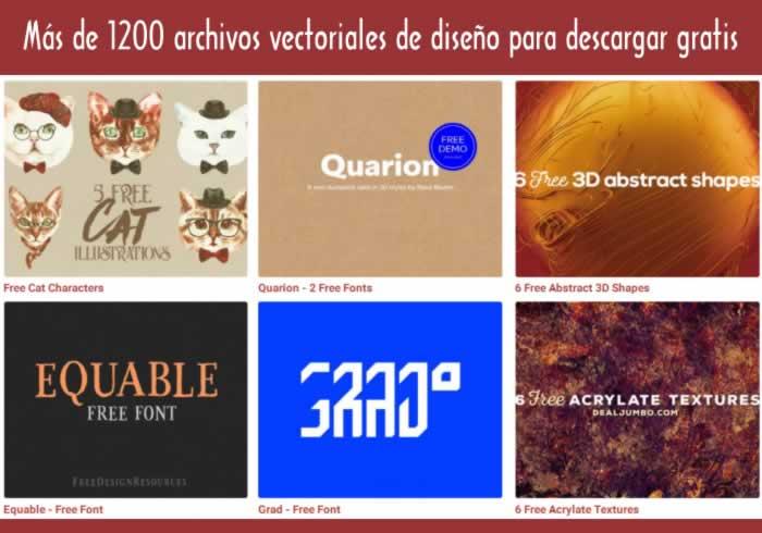 Más de 1200 archivos vectoriales de diseño para descargar gratis