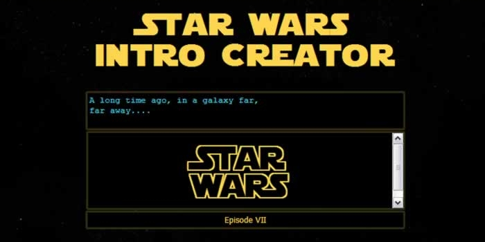 Herramienta on-line para crear una intro de Star Wars