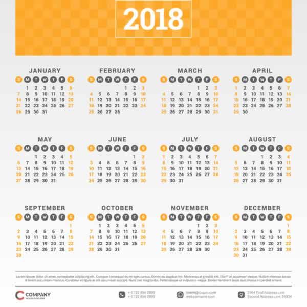 10 calendarios 2018 listos para imprimir recursos gratis for Fondo de pantalla calendario 2018