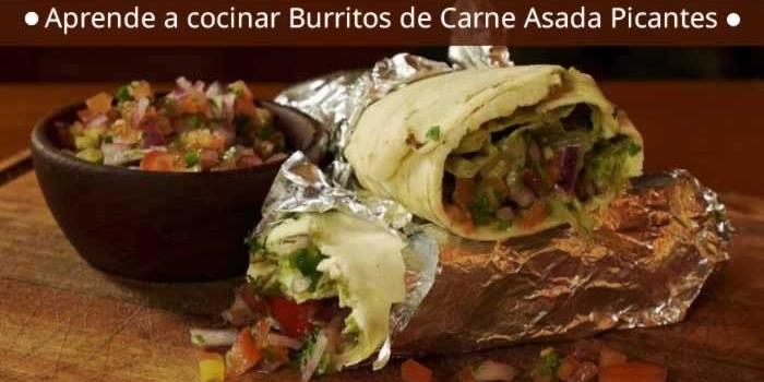 Aprende a cocinar Burritos de Carne Asada Picantes