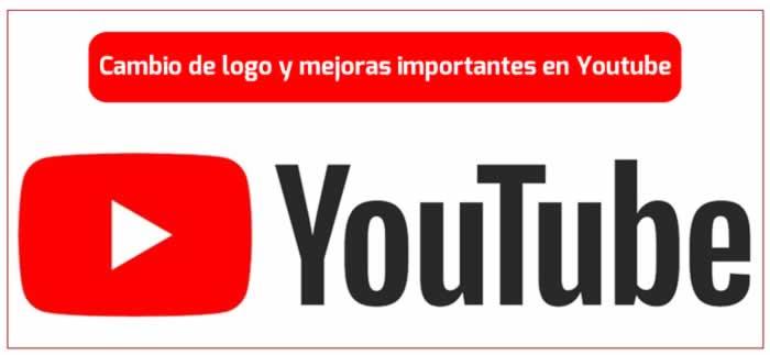 Cambio de logo y mejoras importantes en Youtube