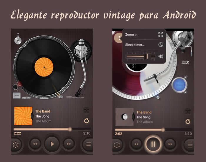 Elegante reproductor vintage para Android