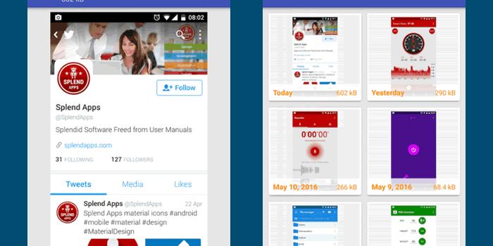 Aplicación para capturar fácilmente pantallas en Android