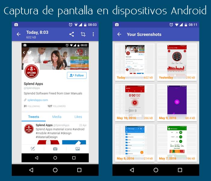 Aplicación para capturar pantallas en Android, fácilmente