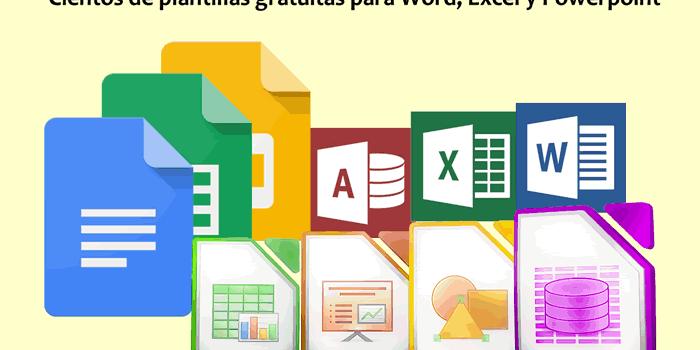 Cientos de plantillas y recursos gratuitos para Word, Excel y PowerPoint