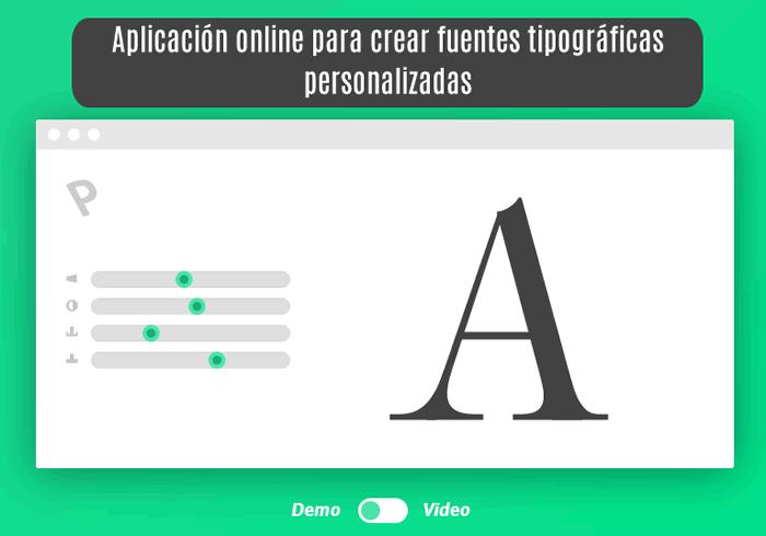 Prototypo. Aplicación online para crear fuentes tipográficas