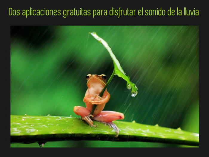 Dos aplicaciones gratuitas para disfrutar el sonido de la lluvia