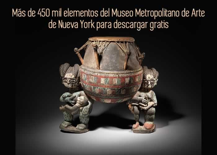 Más de 450 mil elementos del Museo Metropolitano de Arte de Nueva York para descargar gratis