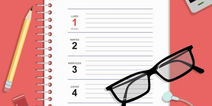 Agenda semanal de escritorio 2018, gratuita y lista para imprimir