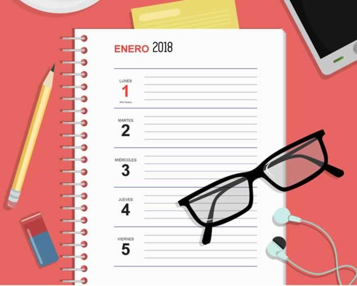 Agenda semanal de escritorio, gratuita y lista para imprimir