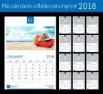 Más calendarios 2018 editables y listos para imprimir